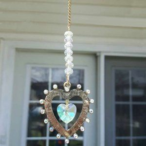 Crystal AB Color Changing Heart Sun Catcher